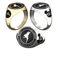 Image of Tinker Bell runDisney Ring for Women by Jostens - Personalizable # 1