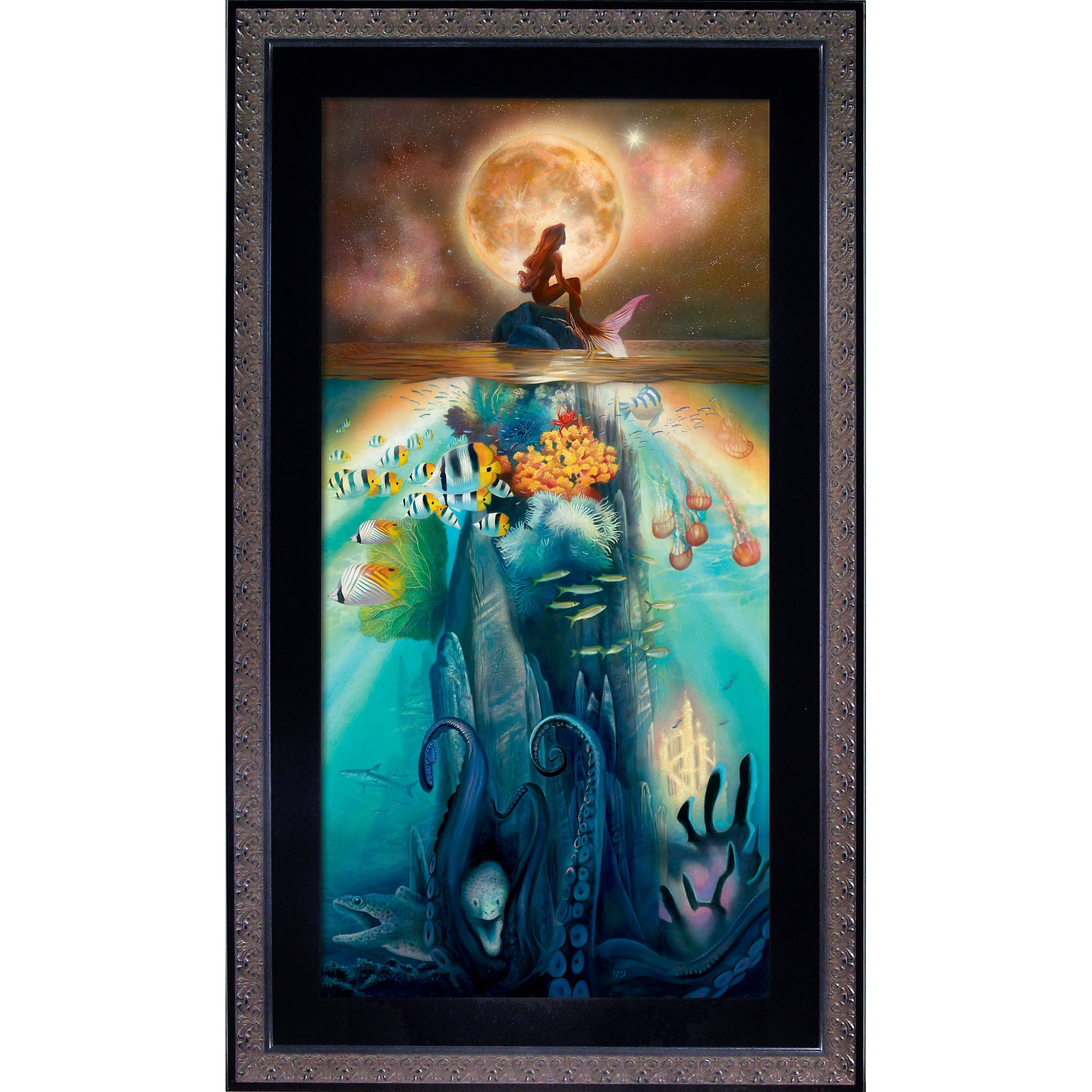 Ariel ''Fathoms Below'' Giclée by John Rowe