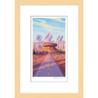 Image of Cars ''Radiator Cap'' Framed Giclée on Paper by Bill Cone - Limited Edition # 1
