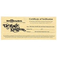 Image of Walt Disney World Replica 24K Gold Plated Transportation Ticket - Limited Edition # 4