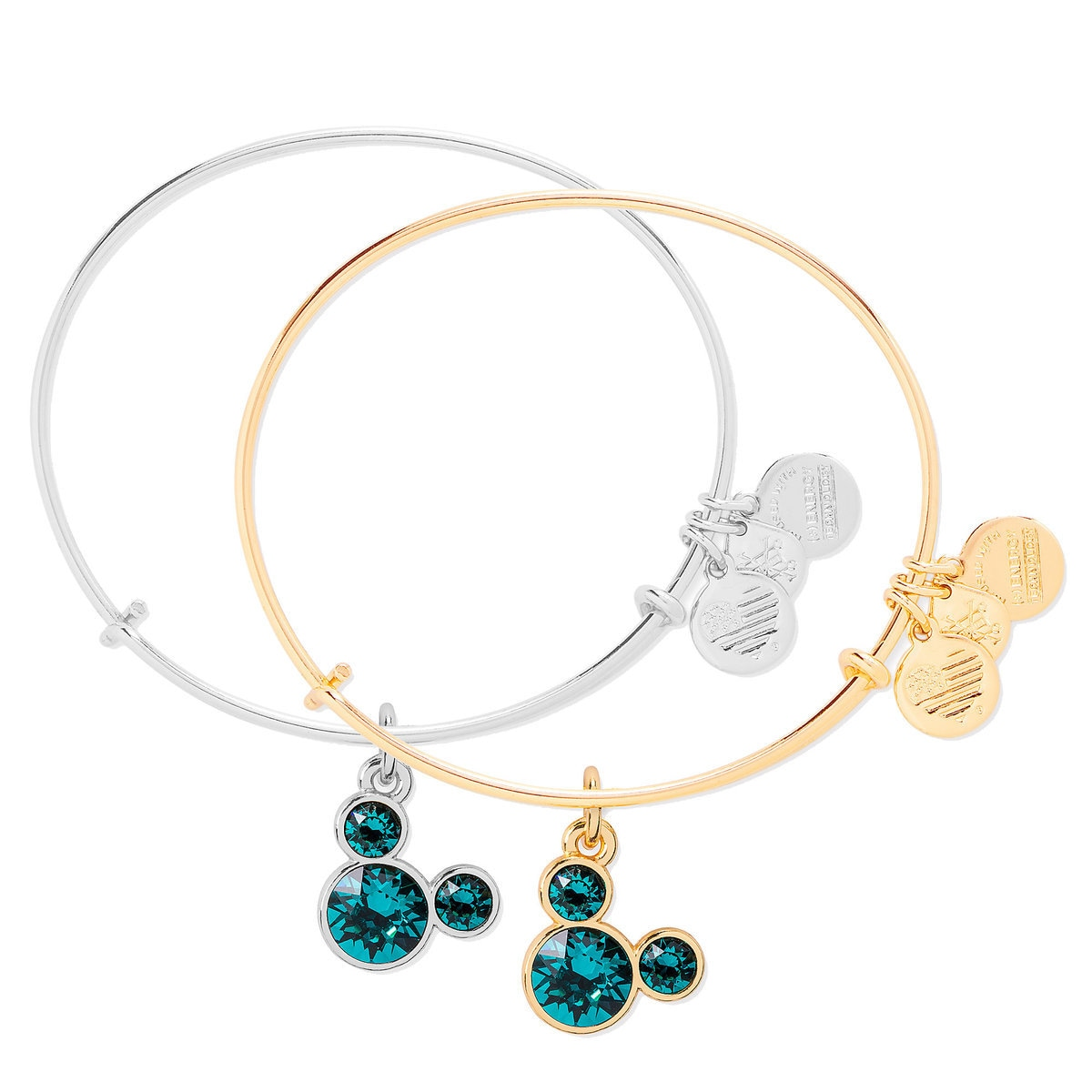 65df98b74 Product Image of Mickey Mouse Birthstone Bangle by Alex and Ani - December  # 1