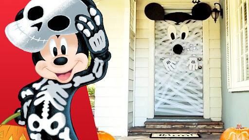 Mickey Halloween Door Decor   Disney Family
