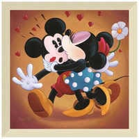 Image of ''Mickey and Minnie Kissing'' Giclée by Michelle St.Laurent # 9
