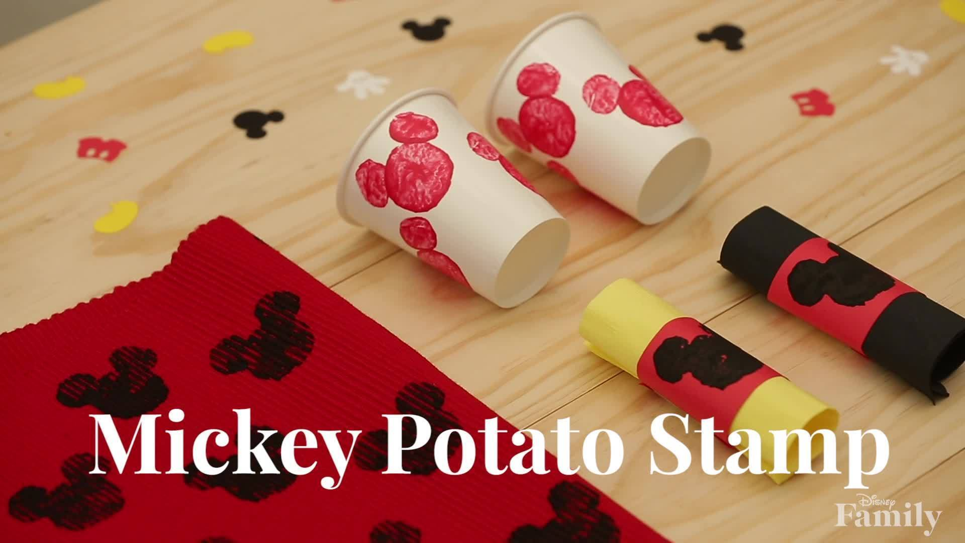 Disney Family: Mickey Potato Stamp DIY