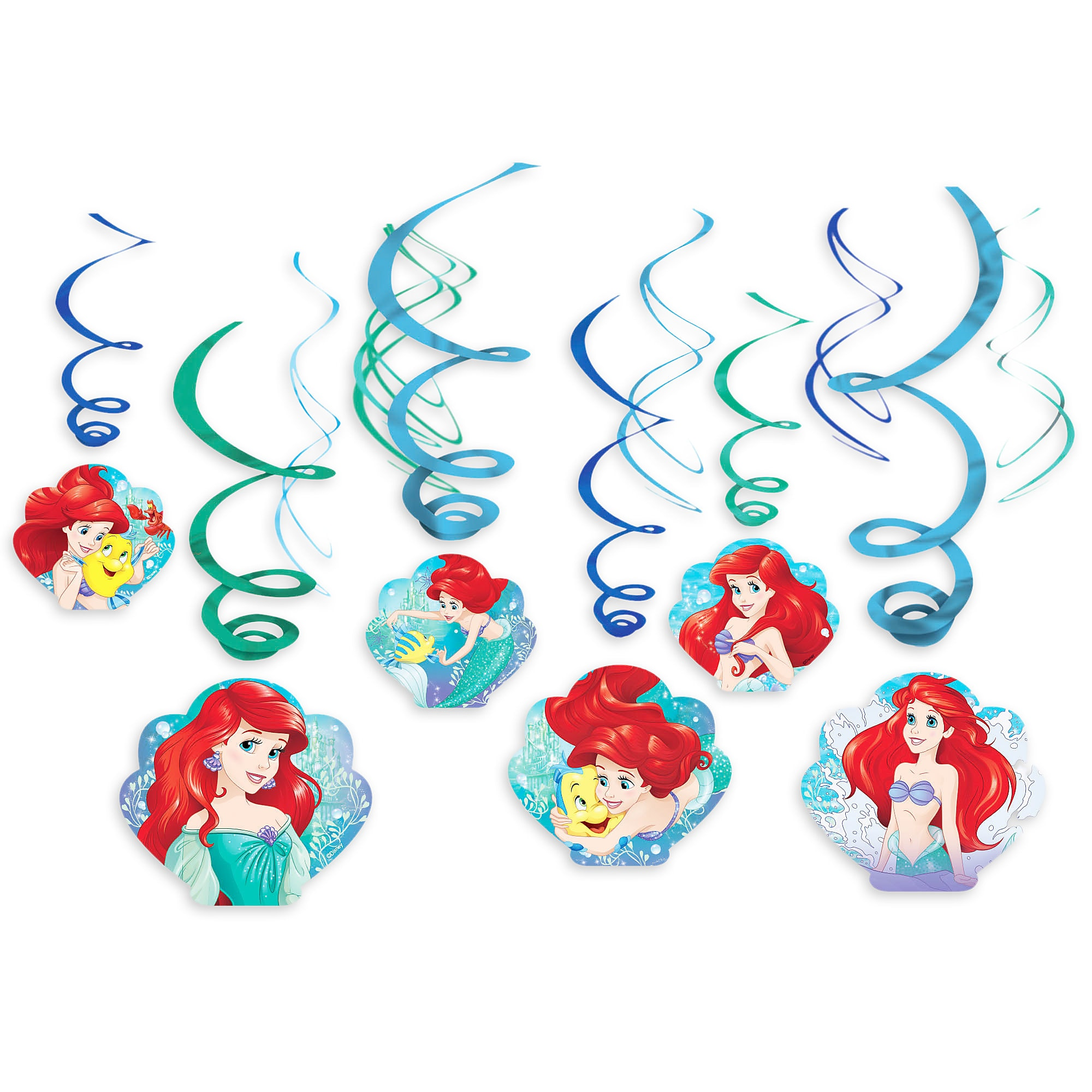 Ariel Swirl Decorations 12-Piece Set
