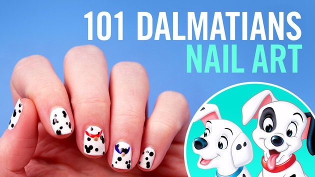 101 Dalmatians Nail Art | TIPS