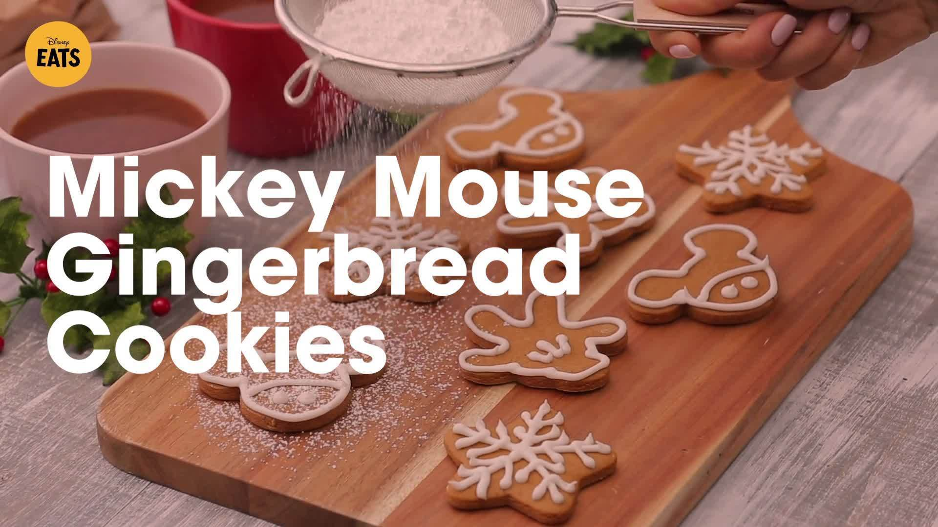 Mickey Mouse Gingerbread Cookies   Disney Eats