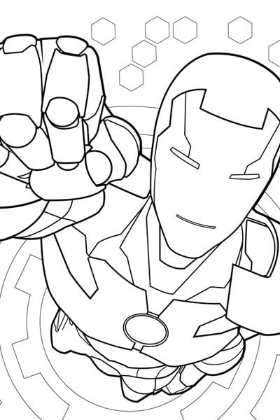 Iron Man Coloring Page Avengers Activities Marvel Kids