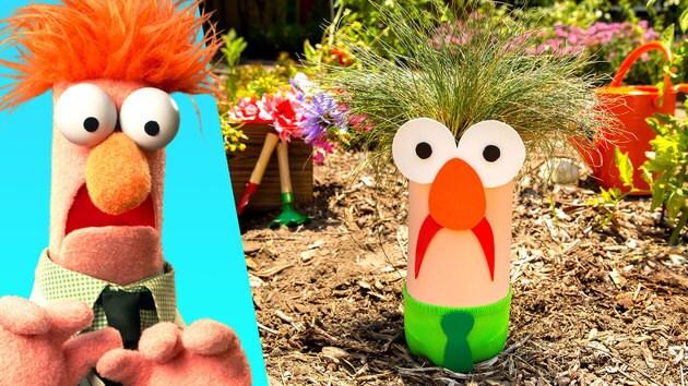 Make & Donate a Summer of Service Beaker Bottle Planter | Disney Family