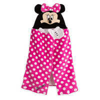 Image of Minnie Mouse Hooded Towel for Baby - Personalizable # 1