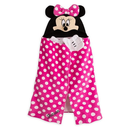 Minnie Mouse Hooded Towel For Baby Personalizable