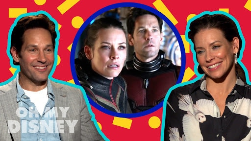 Iconic Disney Duo Speed Round With Paul Rudd and Evangeline Lilly | Oh My Disney