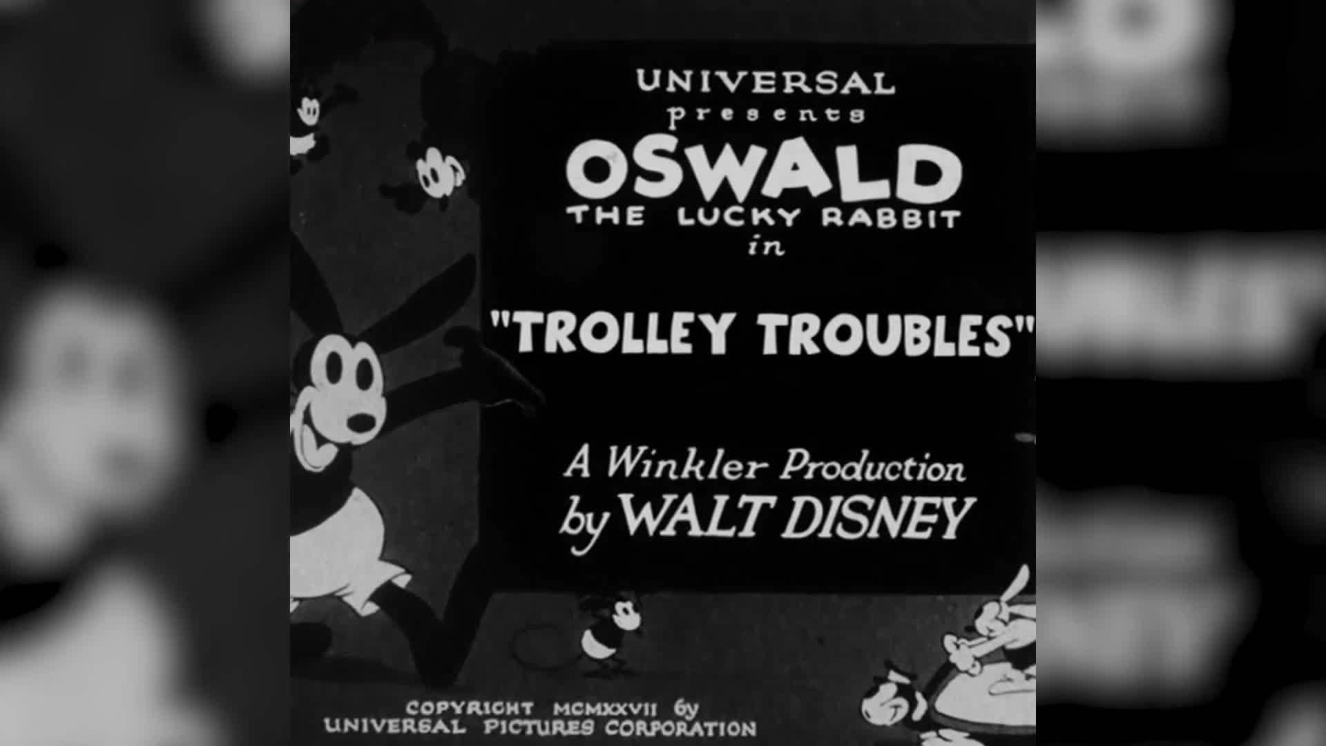 Oswald the Lucky Rabbit. Trolley Troubles   This Day in Disney History   Oh My Disney