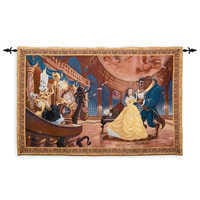 Image of Beauty and the Beast Tapestry Wall Hanging # 1