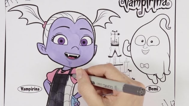 Vampirina and Demi | Disney Junior Colouring Club