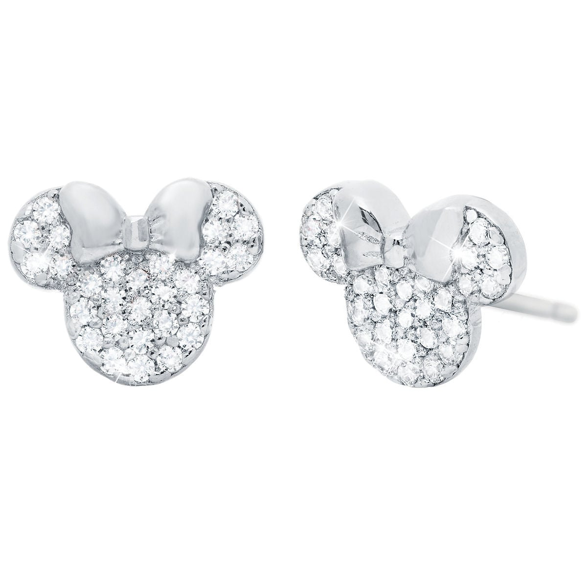Product Image Of Minnie Mouse Icon Stud Earrings By Crislu 1