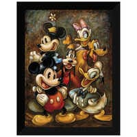 Image of ''Mickey Mouse and Friends'' Giclée by Darren Wilson # 6