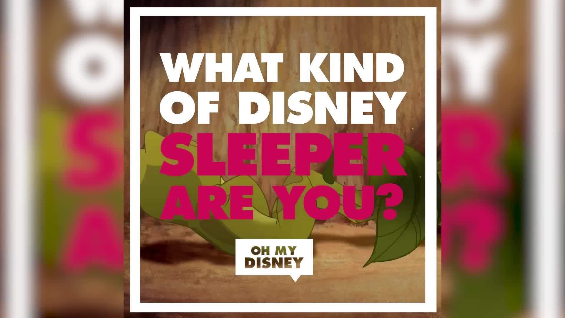 What Kind of Disney Sleeper Are You? | List Vids by Oh My Disney