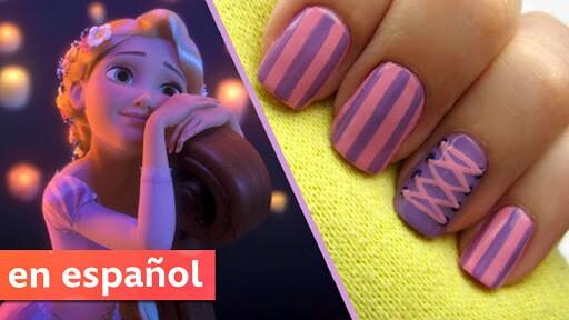 Diseño de uñas basado en Rapunzel de Enredados (Tangled)| Una exclusiva de CutePolish para Disney