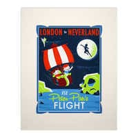 Image of Peter Pan's Flight Retro Poster Deluxe Print # 1