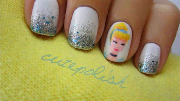 Cinderella Nail Design Tutorial - A CutePolish Disney Exclusive | Disney  Video - Cinderella Nail Design Tutorial - A CutePolish Disney Exclusive
