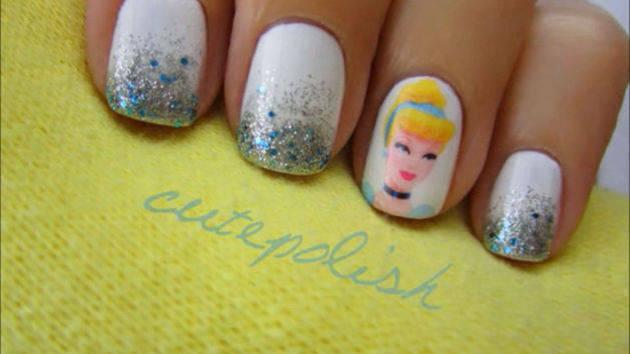 Cinderella Nail Design Tutorial - A CutePolish Disney Exclusive - Cinderella Nail Design Tutorial - A CutePolish Disney Exclusive