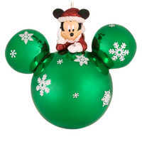 Image of Santa Mickey Mouse on Mouse Icon Ornament # 1