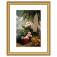 Image of Mickey Mouse and Pluto ''Sundown Surfer Mickey Mouse'' Giclée by Darren Wilson # 4