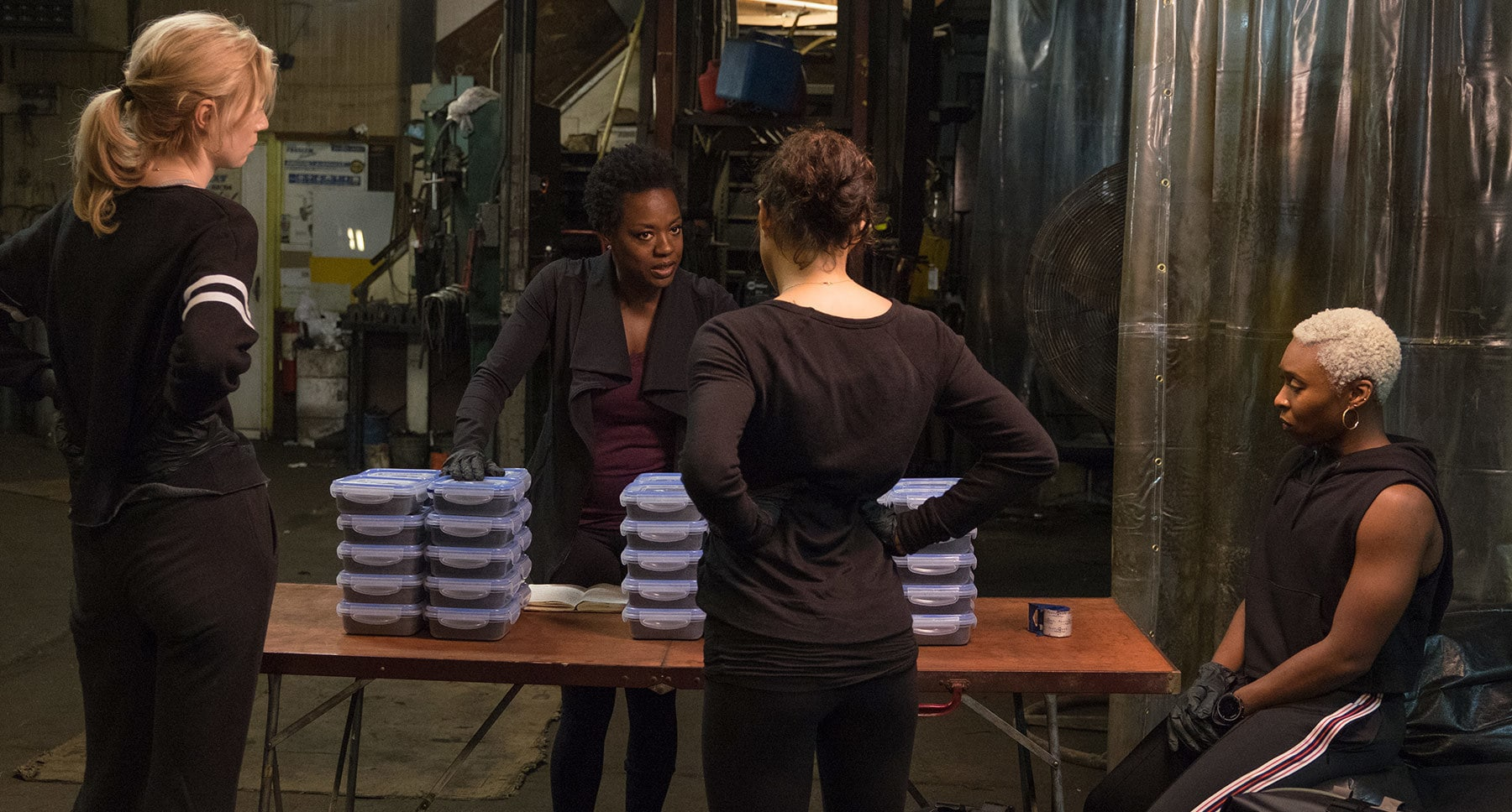 "Viola Davis, Michelle Rodriguez, Elizabeth Debicki, and Cynthia Erivo in ""Widows"""