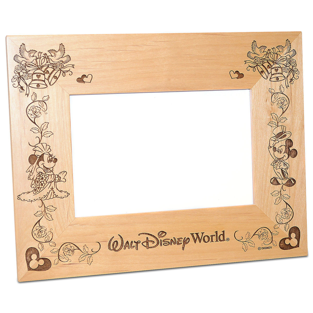 Walt Disney World Minnie And Mickey Mouse Wedding Photo Frame By