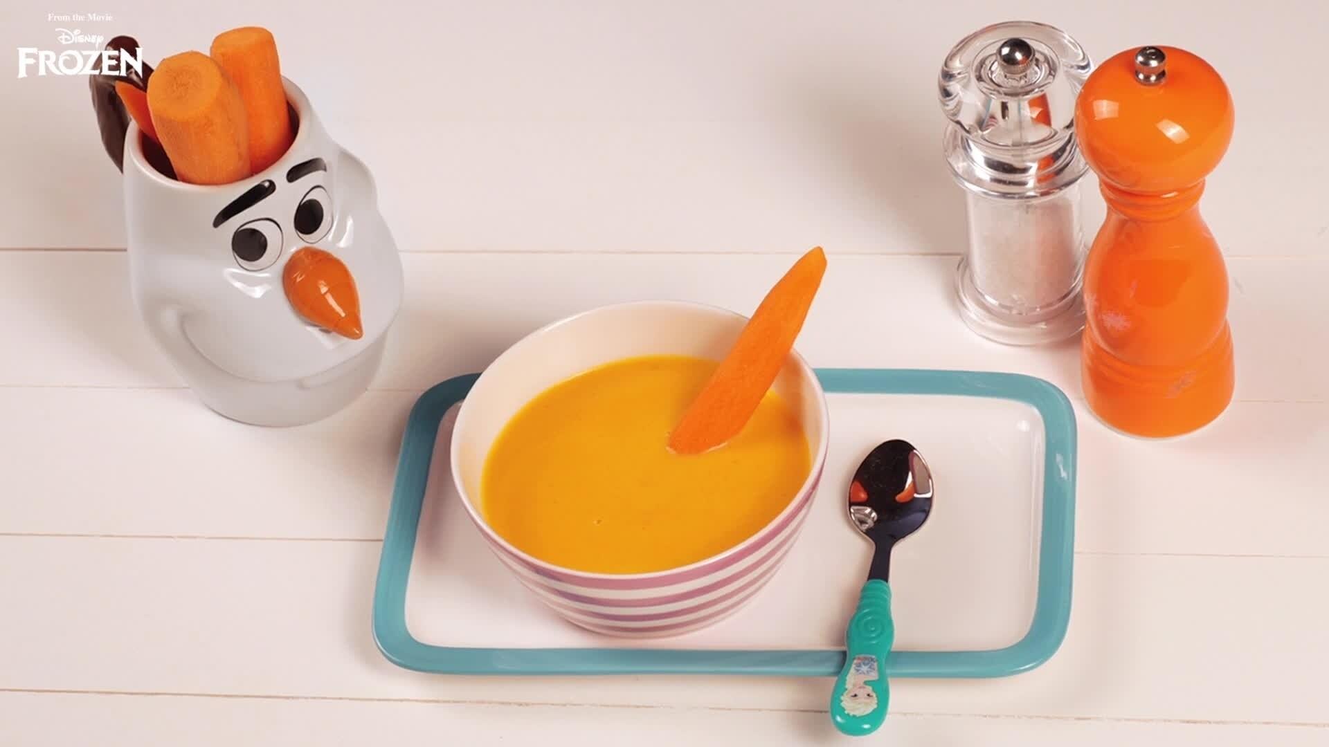 Le ricette di Chiara Maci: Crema di carote di Olaf