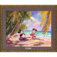 Image of Mickey and Minnie Mouse ''Palm Trees and Island Breeze'' Giclée on Canvas by Irene Sheri - Limited Edition # 1