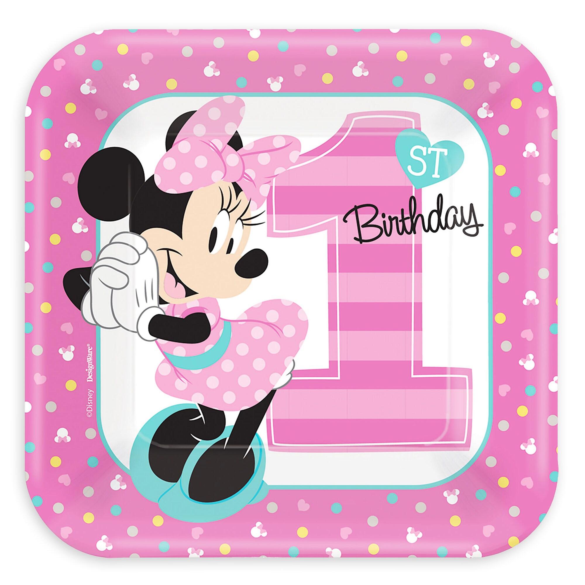 Minnie Mouse 1st Birthday Dessert Plates shopDisney