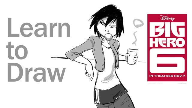 Learn to Draw GoGo Tomago from Big Hero 6 - Disney Insider