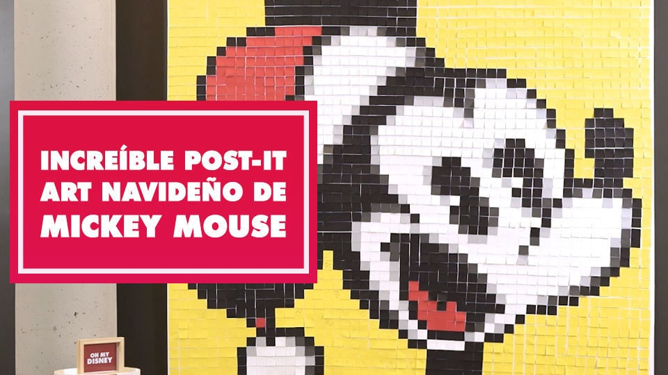 Increíble post-it art navideño de Mickey Mouse | Oh My Disney
