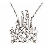 Disney Castle Scroll Necklace by Rebecca Hook
