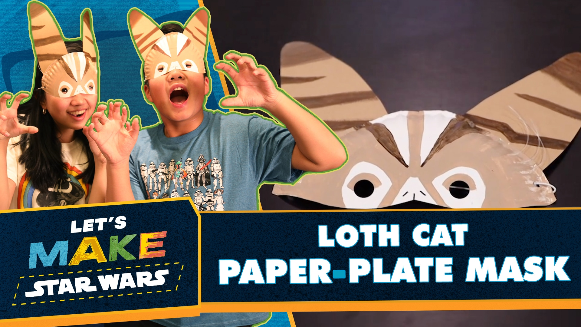 How to Make Paper Plate Masks | Let's Make Star Wars