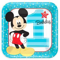 Mickey Mouse 1st Birthday Lunch Plates