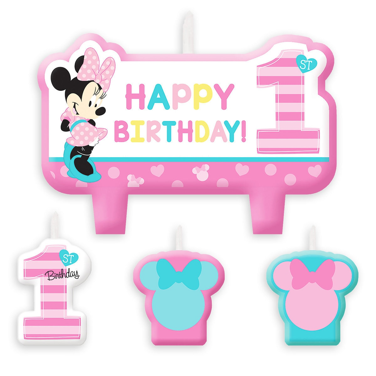 Minnie Mouse 1st Birthday Candle Set | shopDisney