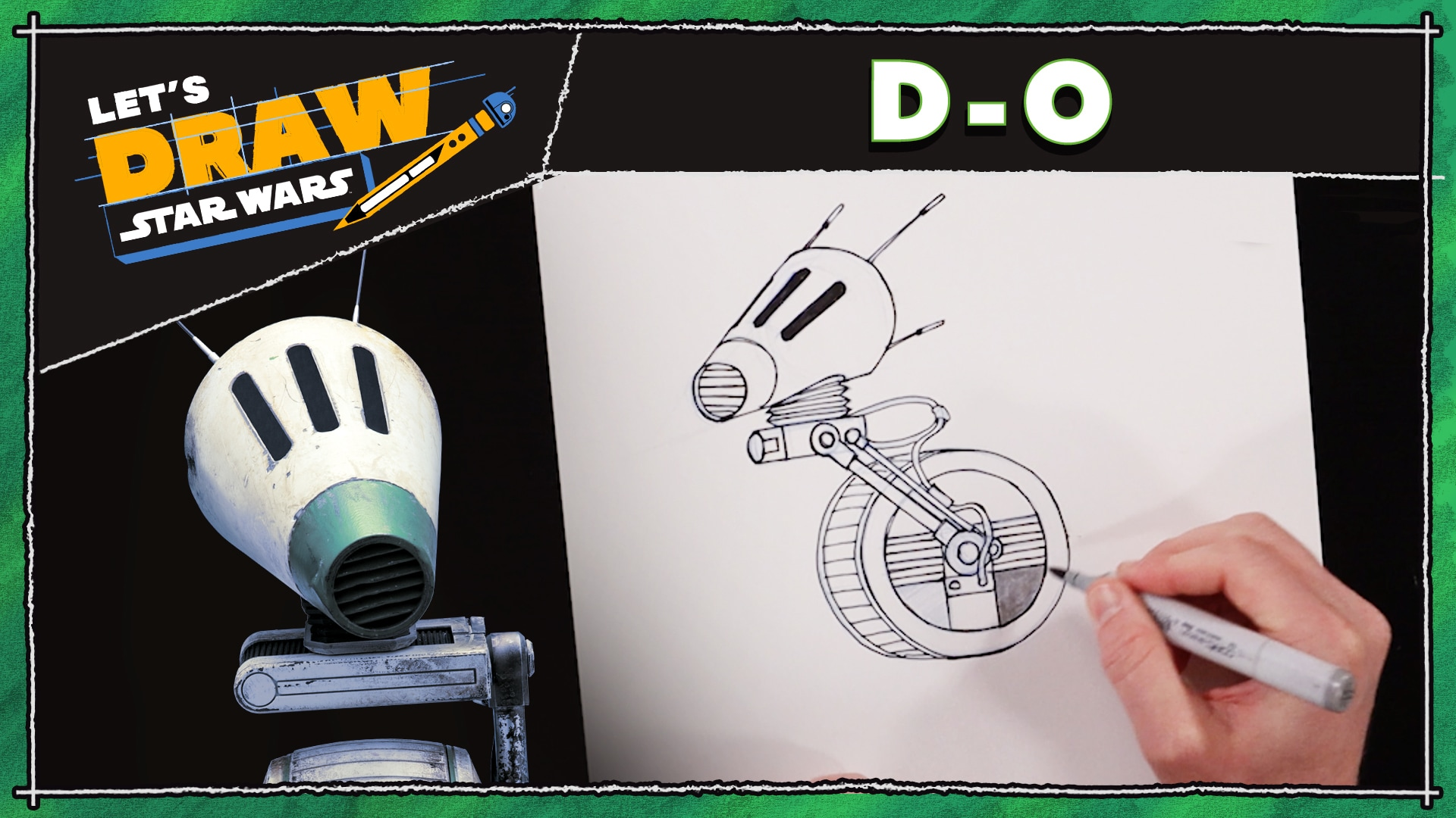 How to Draw D-O | Let's Draw Star Wars