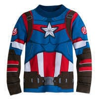 Image of Captain America Costume PJ PALS for Boys # 2