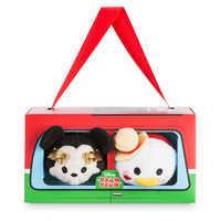 Image of Mickey and Donald ''Tsum Tsum'' Plush Italy Set - Mini 3 1/2'' # 3
