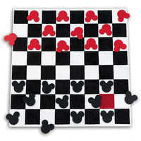 Image of Mickey Mouse Checkboard Square Rug Set by Ethan Allen # 1