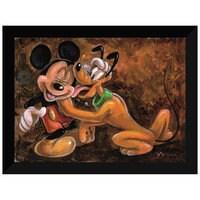 ''Mickey and Pluto'' Giclée by Darren Wilson