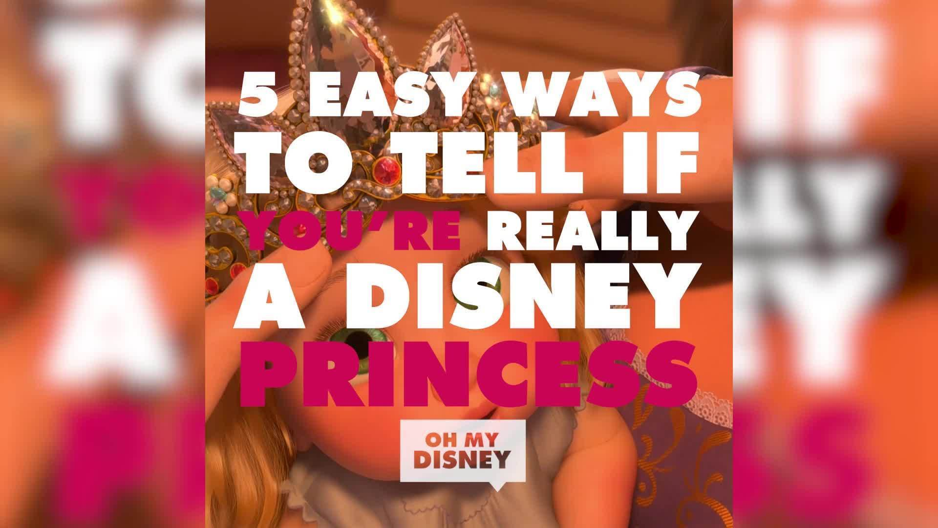 5 Easy Ways to Tell if You're a Disney Princess | ListVids by Oh My Disney