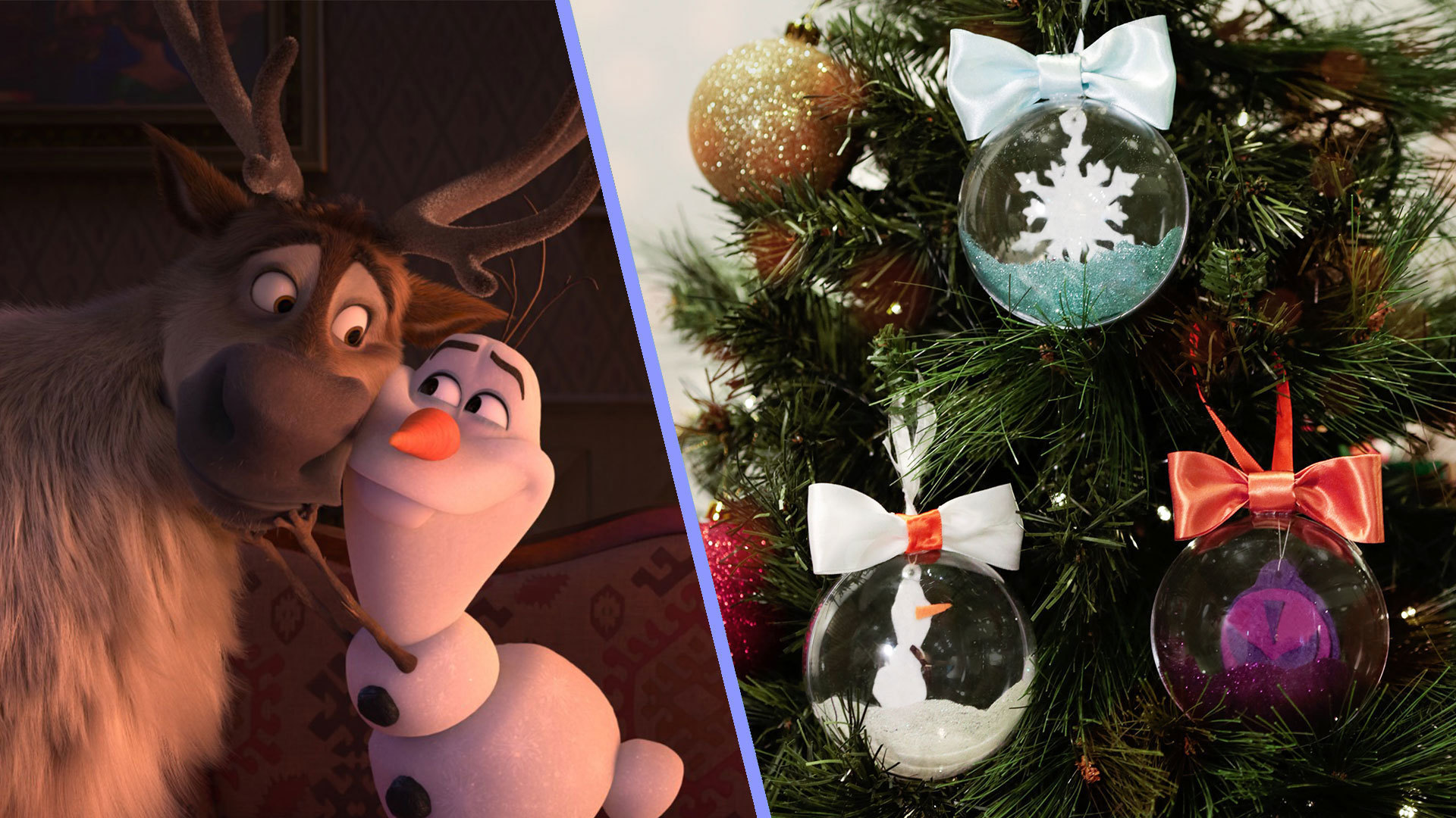 DIY: Christmas Baubles Inspired By Disney's Frozen 2