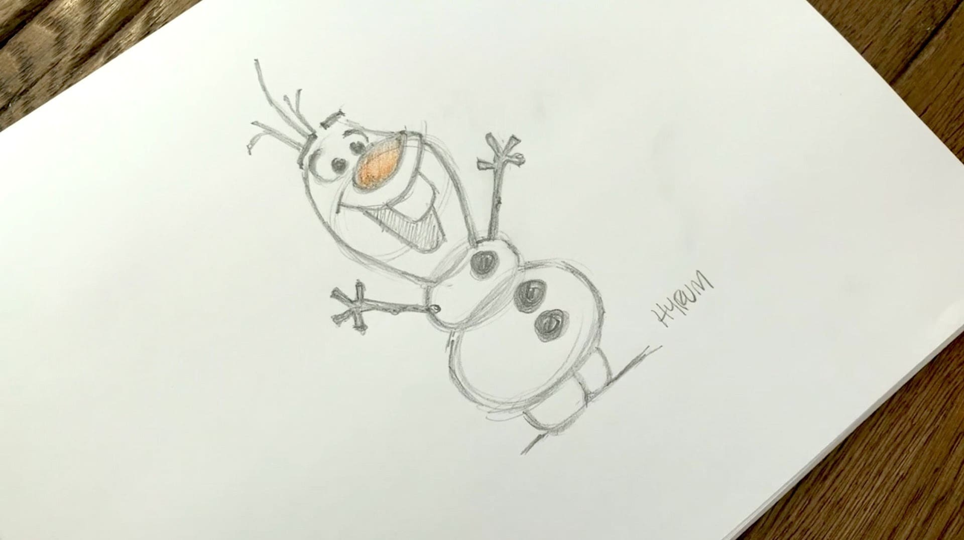 How to Draw Olaf from Frozen l Draw with Disney Animation