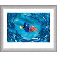 Image of Finding Nemo ''The Moonfish entertain Marlin and Dory'' Giclé # 4