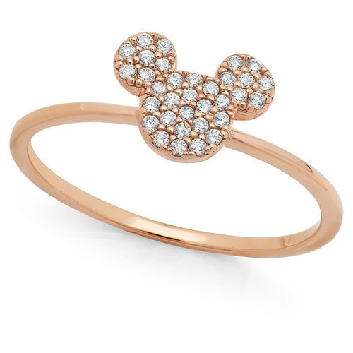 Mickey Mouse Icon Ring by CRISLU Rose Gold