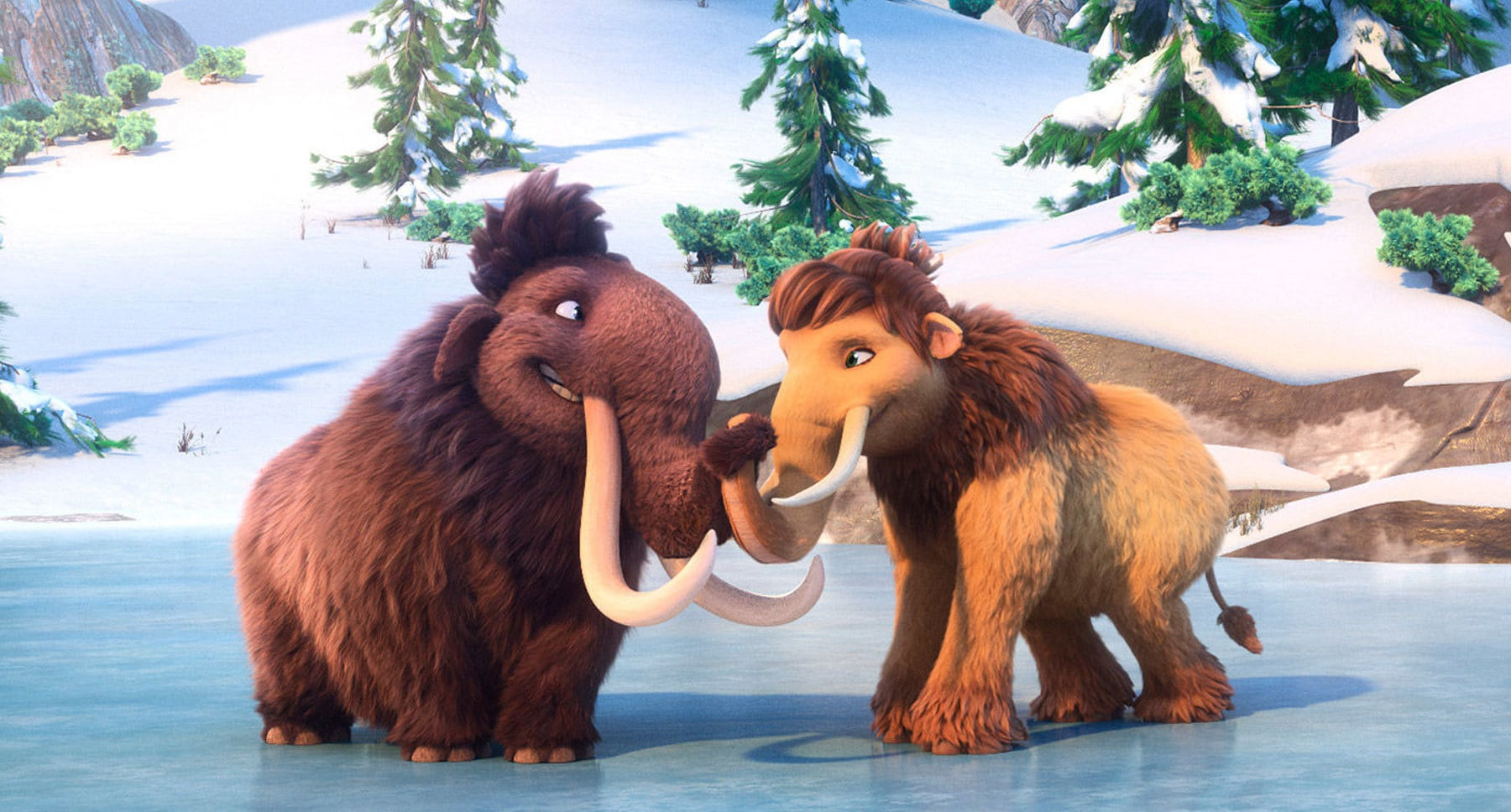 "Actors Ray Romano (as Manny) and Keke Palmer (as Peaches) in the movie ""Ice Age: Collision Course"""